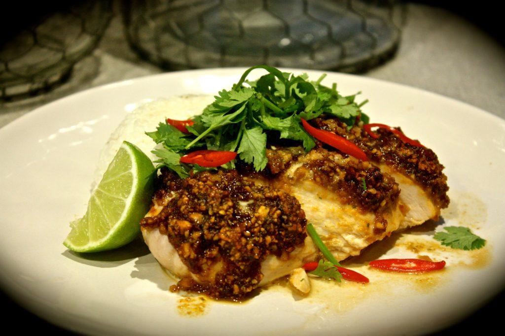 Thai Peanut Crusted Chicken