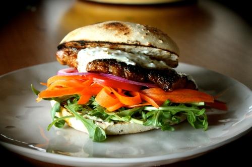 Harissa Steak Burgers with Preserved Lemon Yoghurt