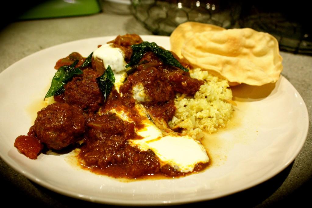Lamb Kofta Curry with Spiced Cauliflower 'Rice'