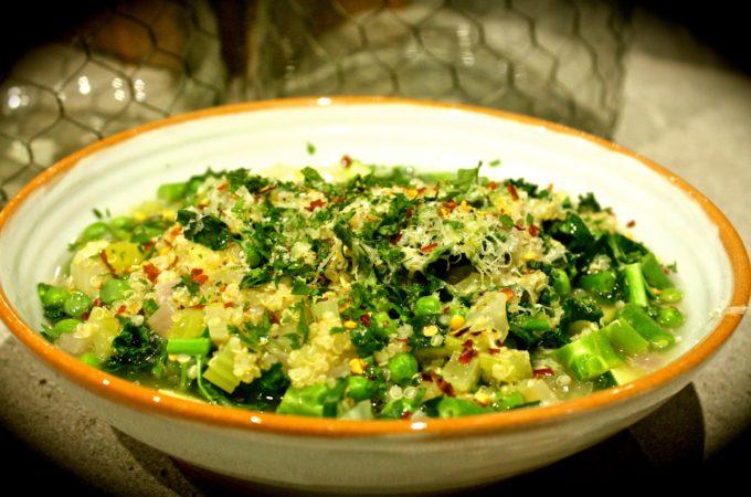 Quinoa & Green Veggie Detox Soup