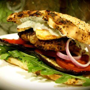 Greek Lamb & Haloumi Burgers