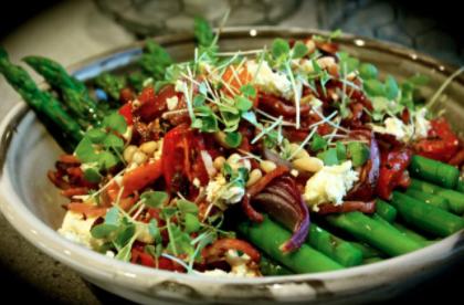 Asparagus, Bacon & Roast Tomato Salad
