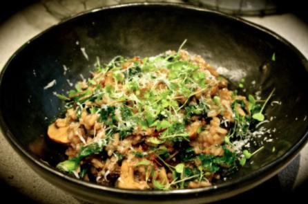 Italian Sausage, Wild Mushroom & Chianti Risotto