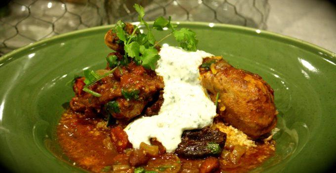 Moroccan Chicken, Prune & Almond Tagine