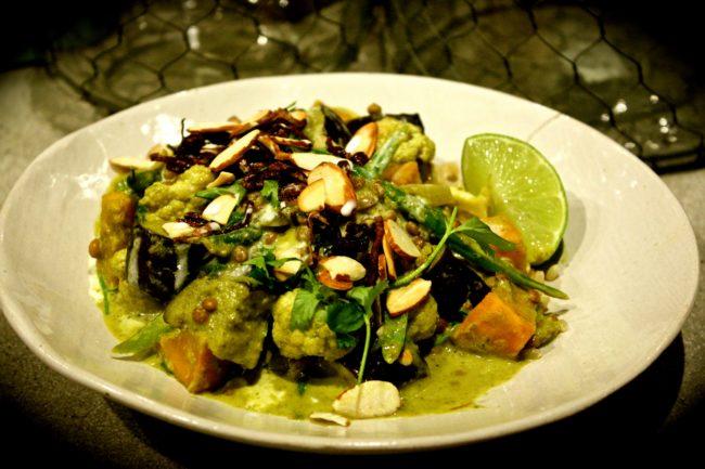 Roasted Vegetable, Lentil & Green 'Kale' Curry