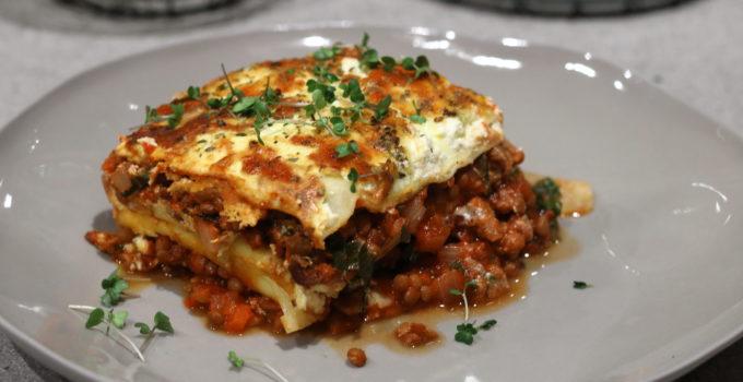 Lentil, Kale & Ricotta Lasagne