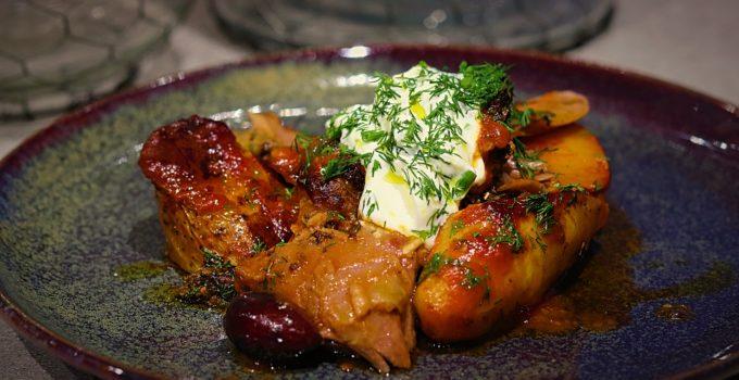 Greek Slow Roasted Lamb Shoulder with Kipfler Potatoes