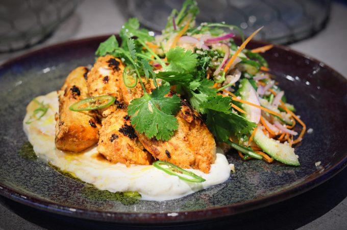 Tandoori Chicken with Mango Yoghurt & Cous Cous Salad