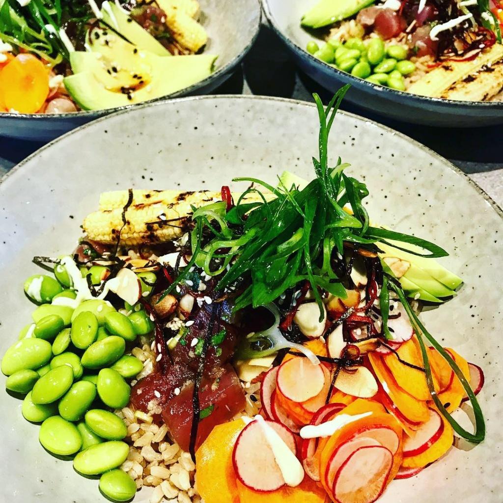 Tuna Poke Bowls with Ponzu Dressing