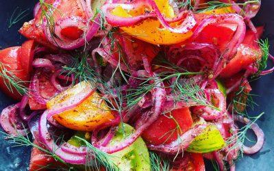 Tomato & Sumac Onion Salad