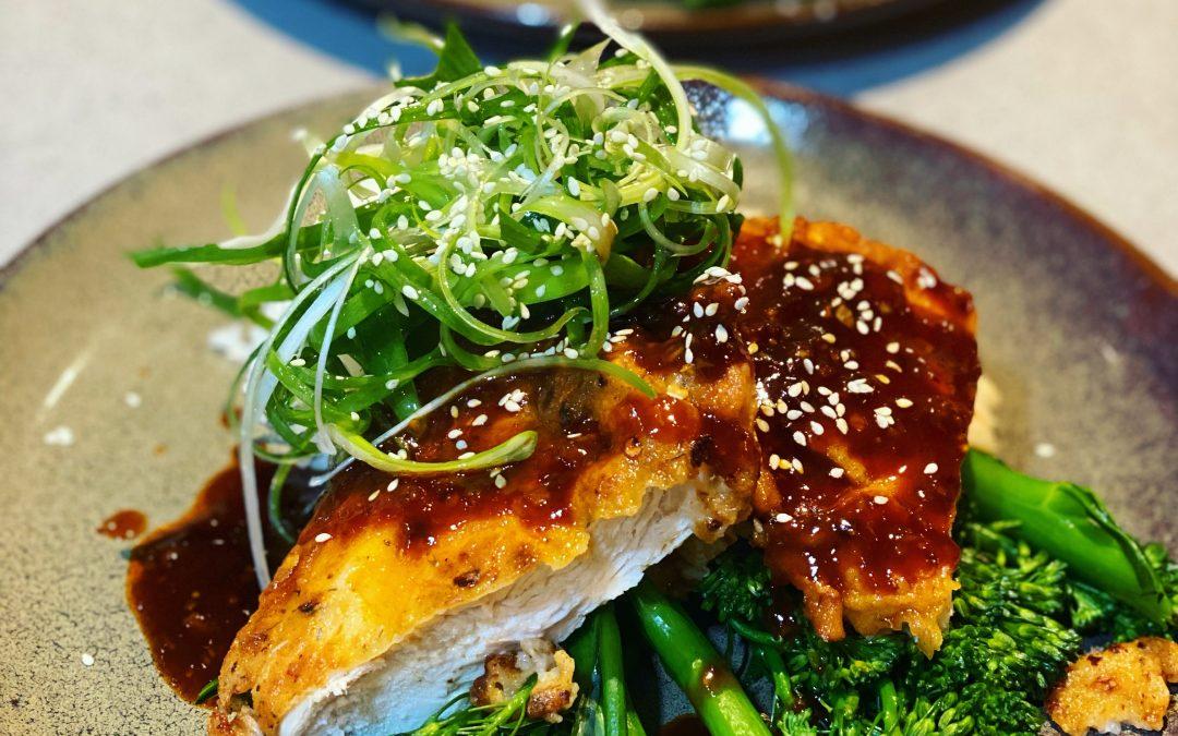 Korean Fried Chicken with Gochujang Sauce
